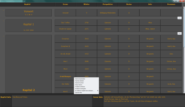 Scene menu
